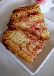 Strawberry Vanilla Marble Cake